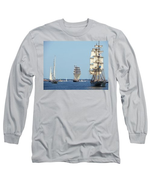 Tallships At Aarhus Long Sleeve T-Shirt
