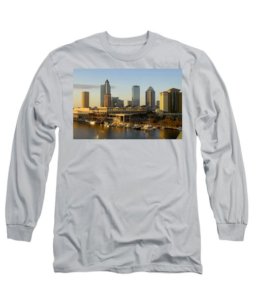 Tampa Bay And Gasparilla Long Sleeve T-Shirt by David Lee Thompson
