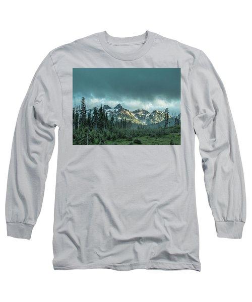 Tatoosh With Storm Clouds Long Sleeve T-Shirt