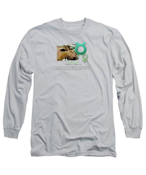 Taurus Sun Sign Long Sleeve T-Shirt