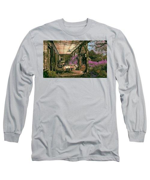 Tea Garden Long Sleeve T-Shirt by John Selmer Sr