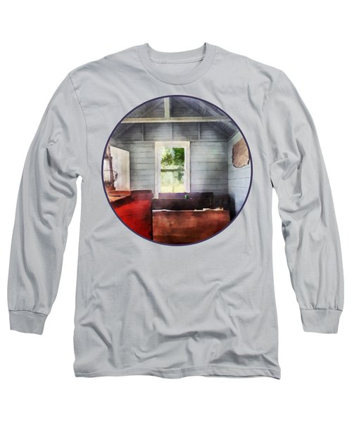 Teacher - One Room Schoolhouse With Hurricane Lamp Long Sleeve T-Shirt