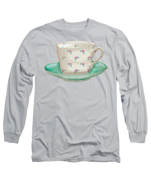 Teacup Garden Party 2 Long Sleeve T-Shirt by J Scott