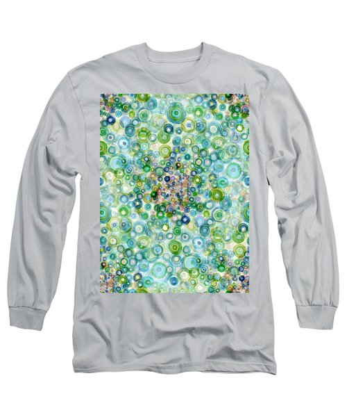 Teal And Olive Concavity Long Sleeve T-Shirt
