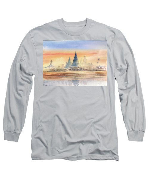 Temples In The Dusk Long Sleeve T-Shirt