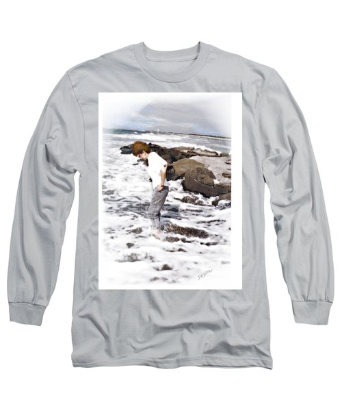Long Sleeve T-Shirt featuring the photograph Tempting by Desline Vitto