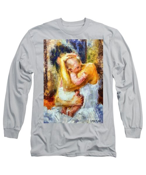 Long Sleeve T-Shirt featuring the painting Tender Moment by Dragica  Micki Fortuna