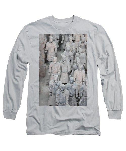 Terra Cotta Warriors Detail Long Sleeve T-Shirt