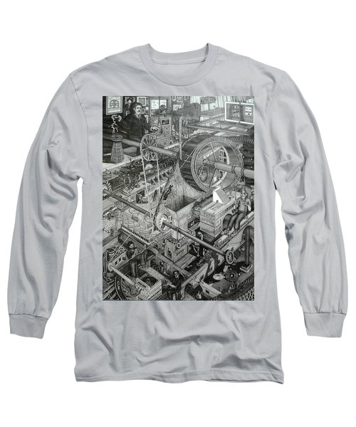 Teslas Free Energy  Long Sleeve T-Shirt by Richie Montgomery
