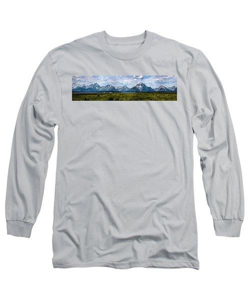 Tetons - Panorama Long Sleeve T-Shirt