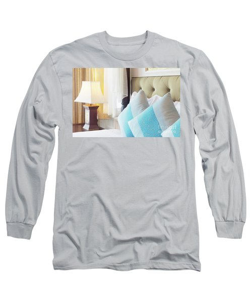 Long Sleeve T-Shirt featuring the photograph Thai Style Bedroom by Atiketta Sangasaeng