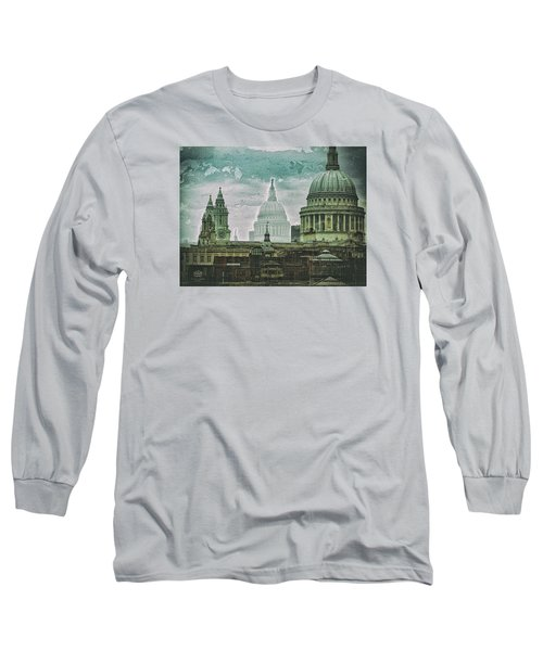 Thamesscape 2 -  Ghosts Of London Long Sleeve T-Shirt