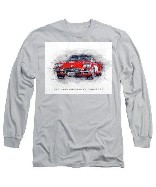 The 1959 Chevrolet Corvette Long Sleeve T-Shirt
