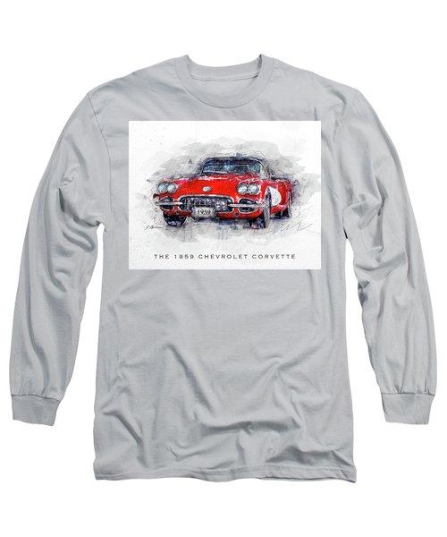 The 1959 Chevrolet Corvette Long Sleeve T-Shirt