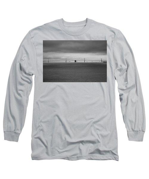 The Bay Bridge B/w Long Sleeve T-Shirt
