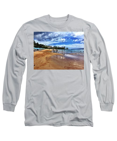 Long Sleeve T-Shirt featuring the photograph The Beach 2 by Michael Albright
