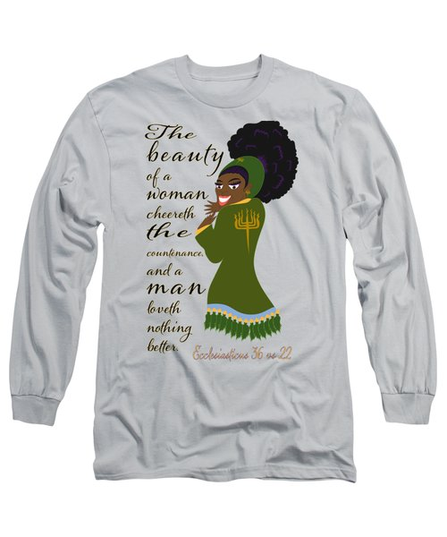The Beauty Of A Woman Long Sleeve T-Shirt