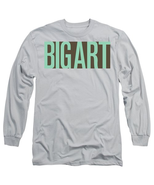 The Big Art - Pure Emerald On Cotton Long Sleeve T-Shirt