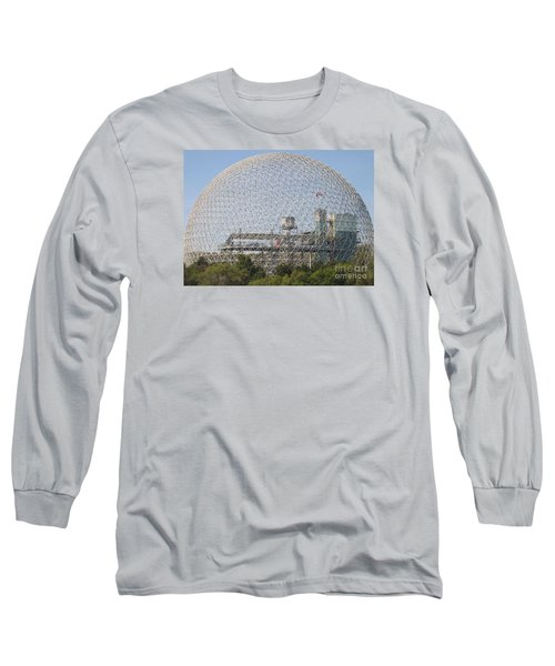 The Biosphere  Ile Sainte-helene Montreal Quebec Long Sleeve T-Shirt