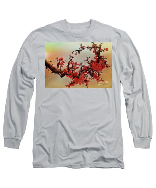 The Bloom Of Cherry Blossom Long Sleeve T-Shirt
