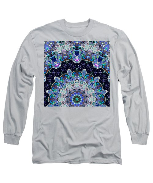 Long Sleeve T-Shirt featuring the digital art The Blue Collective 05b by Wendy J St Christopher