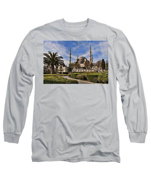 The Blue Mosque In Istanbul Turkey Long Sleeve T-Shirt