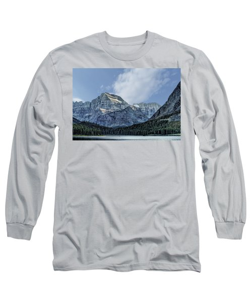 The Blue Mountains Of Glacier National Park Long Sleeve T-Shirt