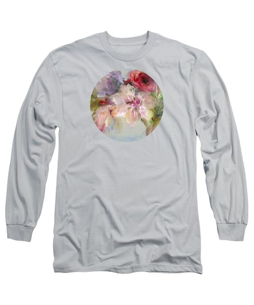 Long Sleeve T-Shirt featuring the painting The Bouquet by Mary Wolf