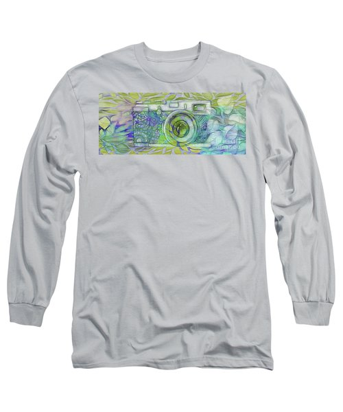 Long Sleeve T-Shirt featuring the digital art The Camera - 02c5b by Variance Collections