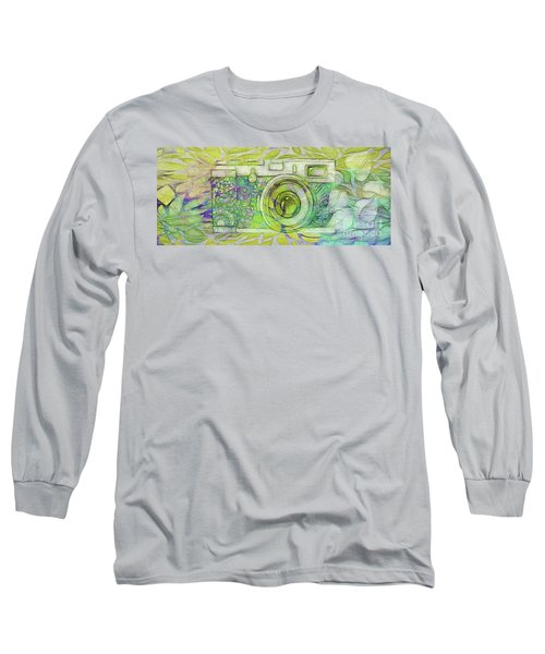 Long Sleeve T-Shirt featuring the digital art The Camera - 02c5bt by Variance Collections
