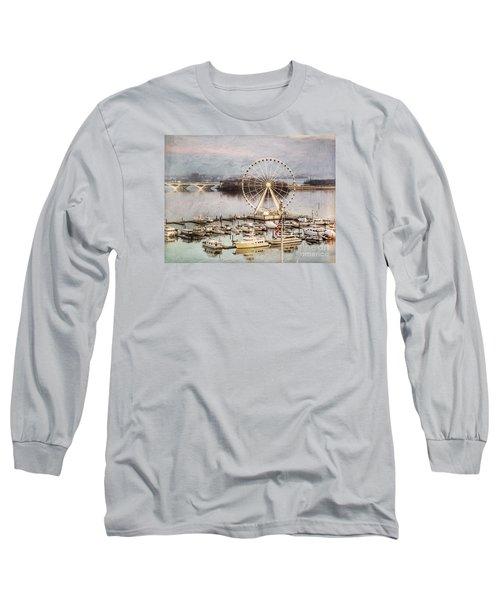 The Capital Wheel At National Harbor Long Sleeve T-Shirt