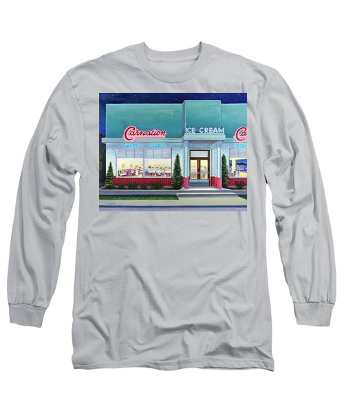 The Carnation Ice Cream Shop Long Sleeve T-Shirt