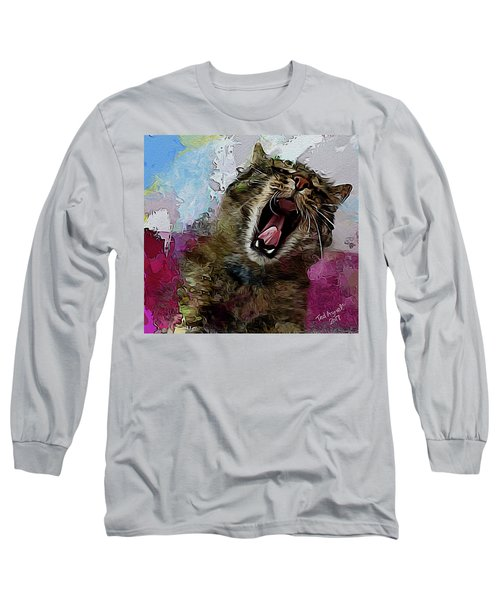 The Cat's Meow Long Sleeve T-Shirt by Ted Azriel