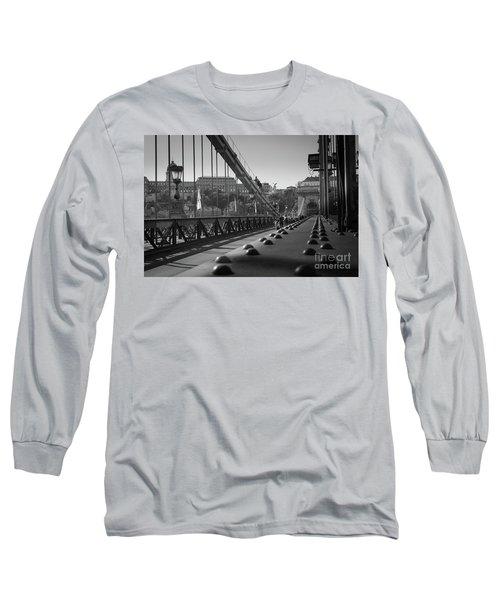 The Chain Bridge, Danube Budapest Long Sleeve T-Shirt