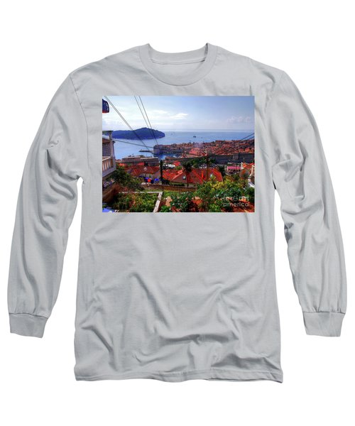 The Colourful City Of Dubrovnik Long Sleeve T-Shirt