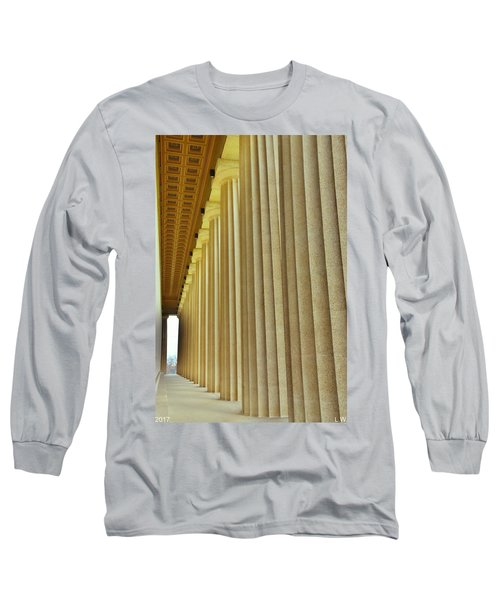 The Columns At The Parthenon In Nashville Tennessee Long Sleeve T-Shirt