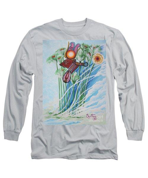 Blaa Kattproduksjoner           The Cow Goddess - Hathor Long Sleeve T-Shirt