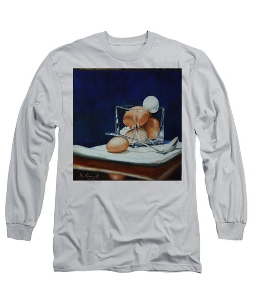 Long Sleeve T-Shirt featuring the painting The Crystal Nest by Roena King