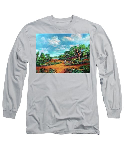 Long Sleeve T-Shirt featuring the painting The Cycle Of Life by Randol Burns