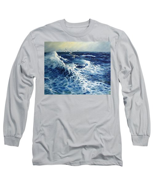 The Deep Blue Sea Long Sleeve T-Shirt by Eileen Patten Oliver