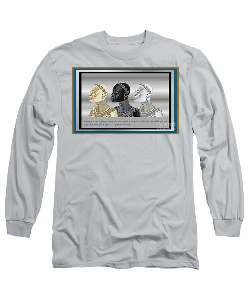 Long Sleeve T-Shirt featuring the digital art The Divine Sisters by Jacqueline Lloyd