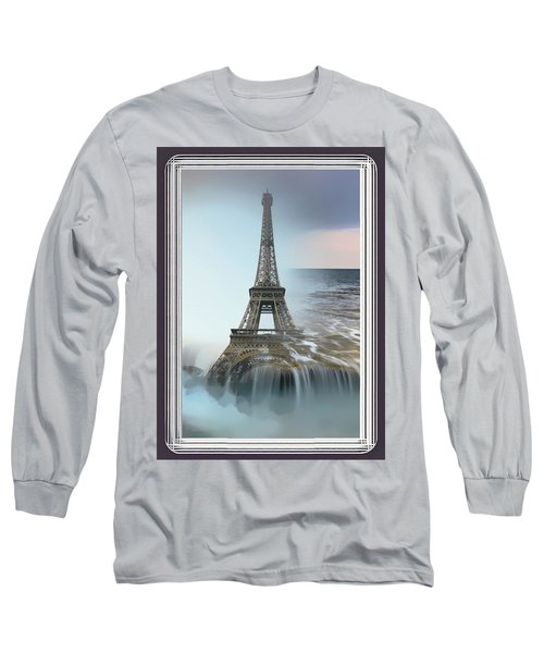 The Eiffel Tower In Montage Long Sleeve T-Shirt