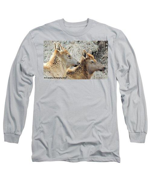 The Elk Of Winter  Long Sleeve T-Shirt