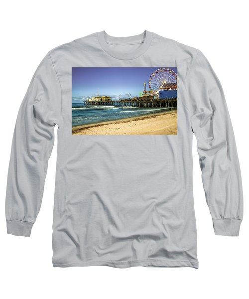 The Ferris Wheel - Santa Monica Pier Long Sleeve T-Shirt