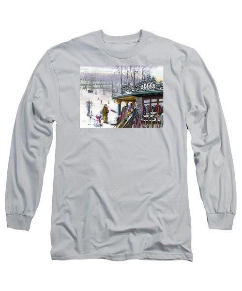 The Foggy Goggle At Seven Springs Long Sleeve T-Shirt by Albert Puskaric