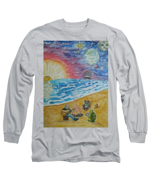 Long Sleeve T-Shirt featuring the painting The Gathering by Thomasina Durkay