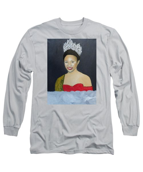 The Golden Queen  Long Sleeve T-Shirt by Angelo Thomas