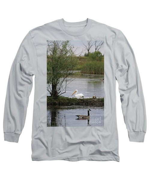 The Goose And The Pelican Long Sleeve T-Shirt by Alyce Taylor