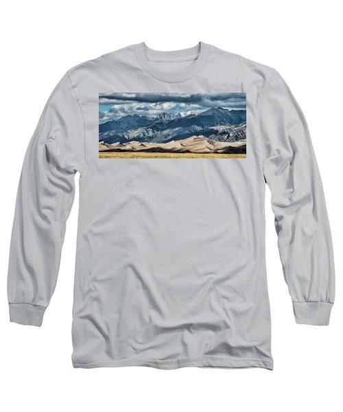 The Great Sand Dunes Panorama Long Sleeve T-Shirt