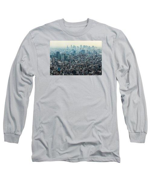 The Great Tokyo Long Sleeve T-Shirt by Peteris Vaivars